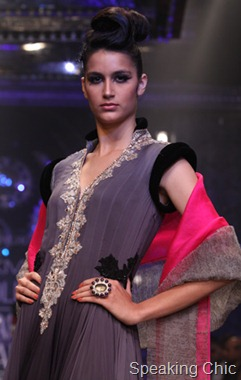 Model at Manish Malhotra W/F 2011