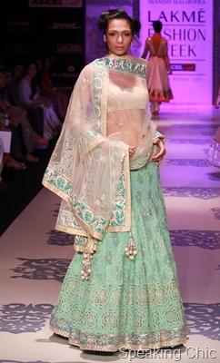 Model at Manish Malhotra LFW S/R 2011