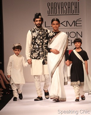 Models at Sabyasachi LFW W/F 2011