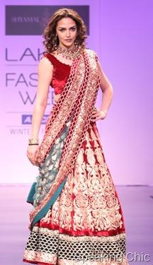 Esha Deol for Shyamal & Bhumika at LFW W/F 2011