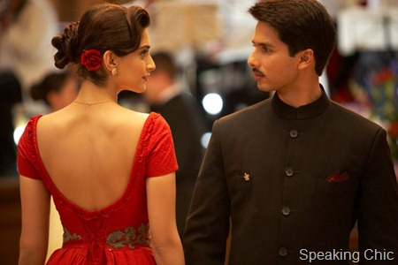 Sonam Kapoor in Mausam- red gown