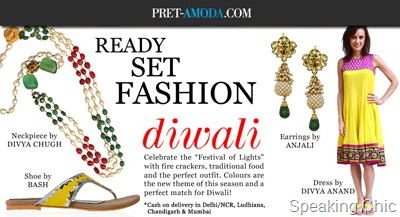 Pret-amoda Diwali promotion
