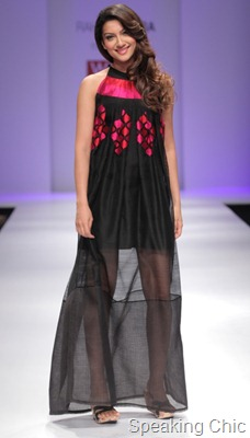Gauhar Khan for Rahul Mishra at WLIFW S/S 2012