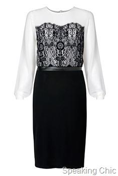 Mang-lace details dress