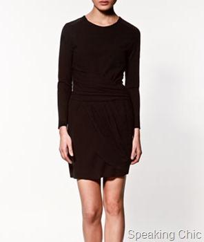 Zara-pleated studio dress