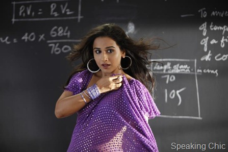 Vidya Balan in The Dirty Picture purple sari