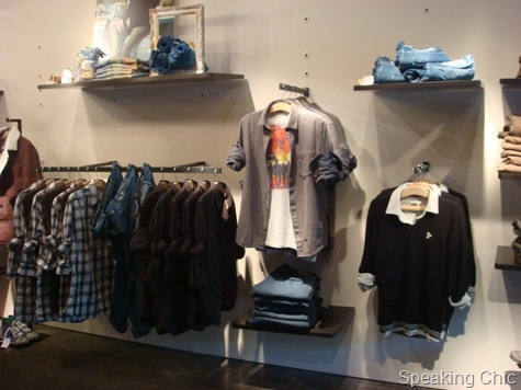 Menswear casuals at Guru store