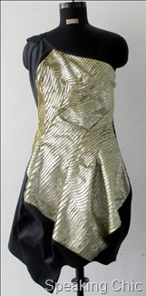 Metallic finish party dress from Vizyon
