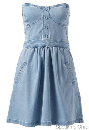 Forevernew Cannes Denim bustier dress
