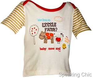 stripped and printed tee from Just For Kids- Rs.449