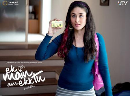 Kareena in blue Ek Main Aur Ekk Tu