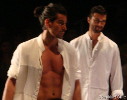 Models at LFW S/R 2012