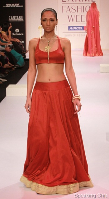 Eina Ahluwalia at LFW S/R 2011