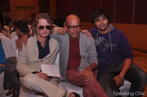 Rohit Bal, Narendra Kumar & Swapnil Shinde at LFW SR 2012 Press Conference