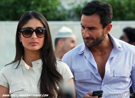 Saif Ali Khan- Kareena Kapoor in Agent Vinod