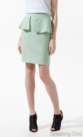 Zara Pencil skirt with frill