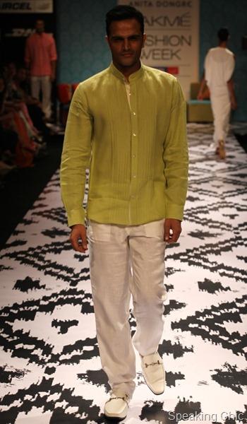 Anita Dongre at LFW S/R 2012- linen shirt for men