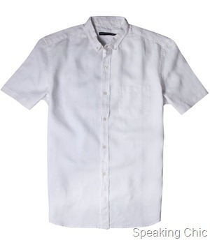 French Connection Arklow Washed Linen shirt