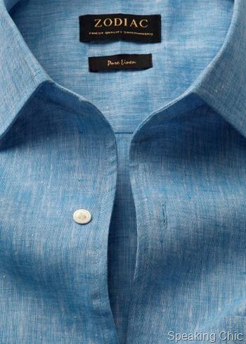 Zodiac-blue linen shirt